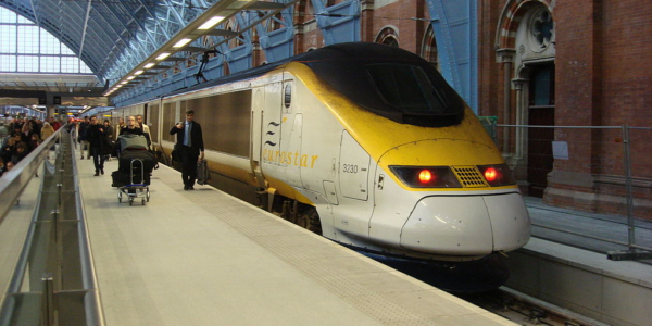 Eurostar At St Pancras Railway Station