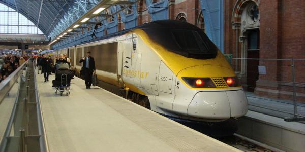 Eurostar At St Pancras Railway Station