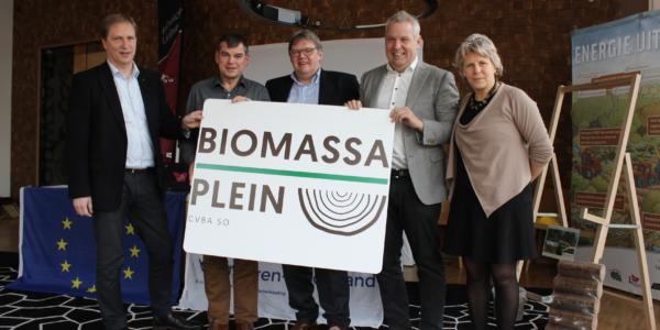 Rllk Biomassaplein Logo Vlnr Ludo Kelchtermans Jef Verpoorten Ludwig Vandenhove Alain Yzermans Ilse Ideler
