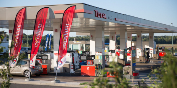 Total-tankstation Frankrijk